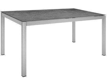 Stern Gartentisch 160x90cm Edelstahl Vierkantrohr / Zement