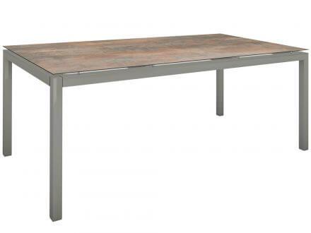 Stern Gartentisch 200x100cm Aluminium graphit/Silverstar 2.0 Ferro