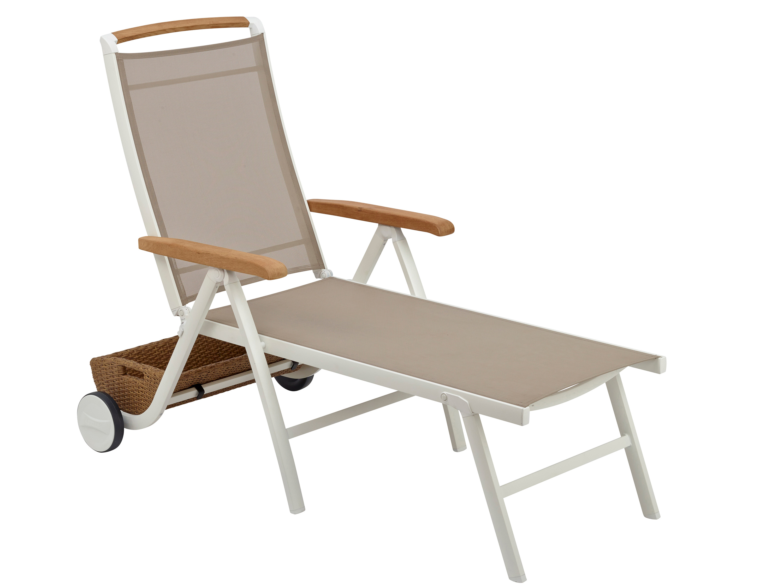 kettler memphis rollliege wei beach grey gartenm bel l nse. Black Bedroom Furniture Sets. Home Design Ideas