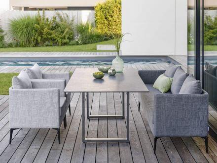 Vorschau: Stern Marta 3-Sitzer Sofa Alu anthrazit Outdoorstoff