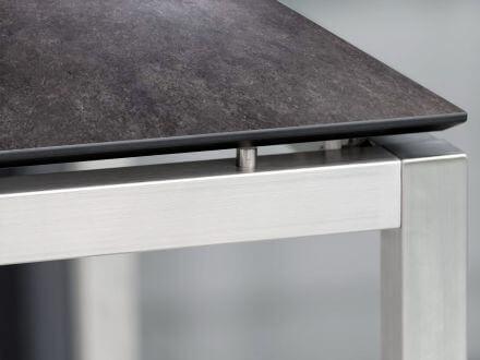 Vorschau: Stern Tisch Edelstahl Vierkantrohr mit Silverstar 2.0 Vintage grau