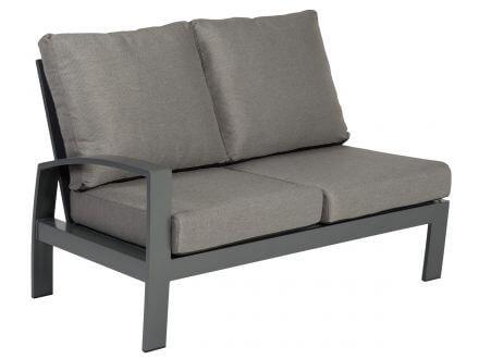 Tierra Outdoor Aluminium Loungemöbel Valencia 2-Sitzer rechts offen