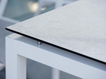 Vorschau: Gartentisch 130x80cm Aluminium weiß Silverstar 2.0