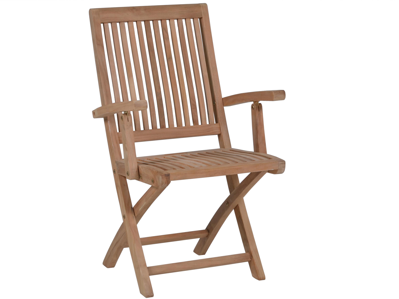 teakholz klappsessel capri mit armlehnen gartenm bel l nse. Black Bedroom Furniture Sets. Home Design Ideas