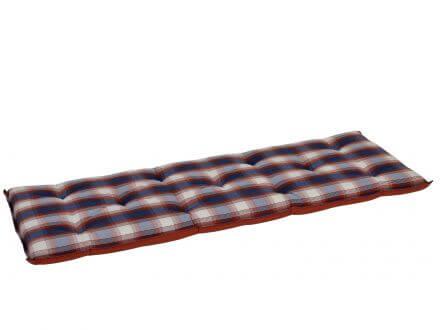 Gartenbank Auflage blau-rot-kariert 140cm