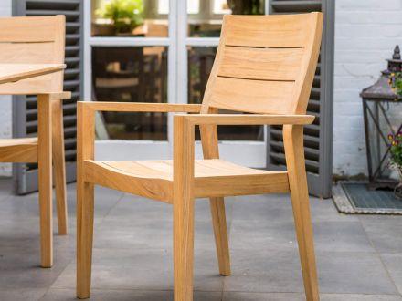 Vorschau: Alexander Rose Roble Holz Gartenstuhl Tivoli stapelbar