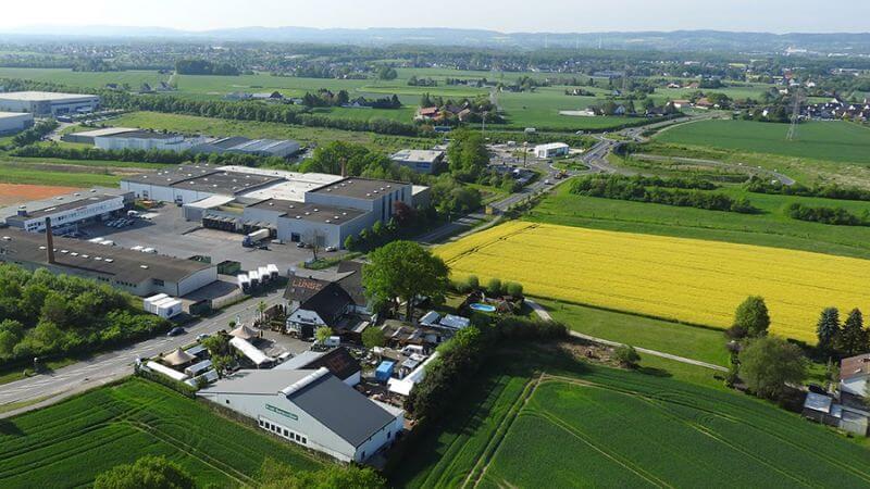Luftbild Ausstellungsgelände Firma Lünse Gartenmöbel