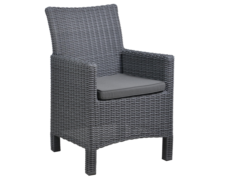 geflechtsessel liverpool anthrazit inkl sitzkissen gartenm bel l nse. Black Bedroom Furniture Sets. Home Design Ideas