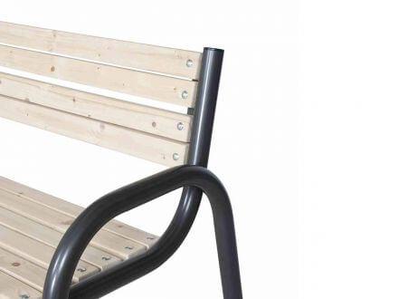 Vorschau: Siena Garden Gartenbank Park Kiefer Stahl 150cm 3-Sitzer
