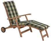 Deckchair Auflage Santos grün-beige-kariert