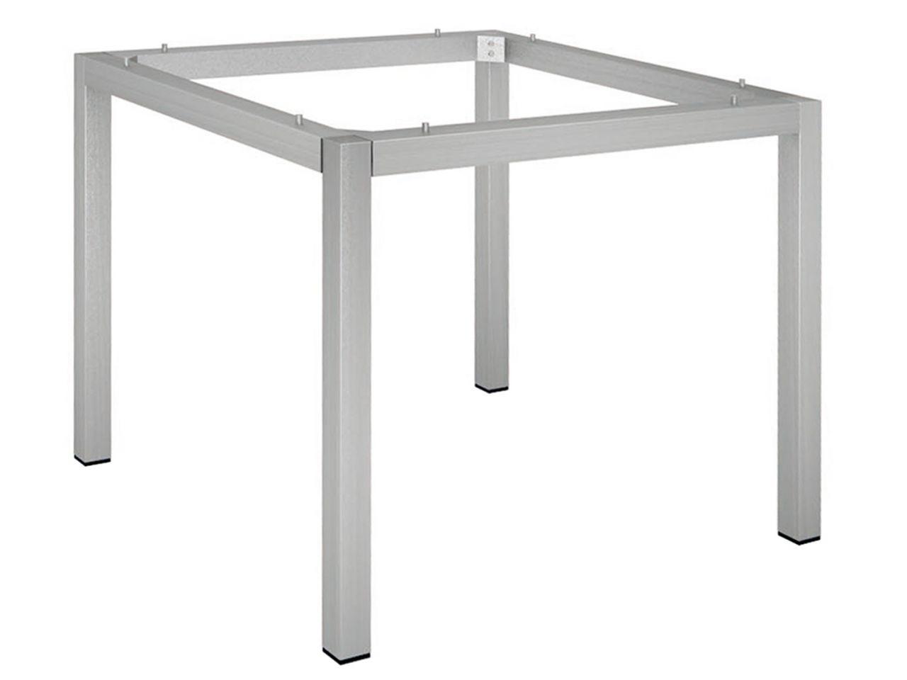 Stern Tischgestell 90x90cm Edelstahl Vierkantrohr