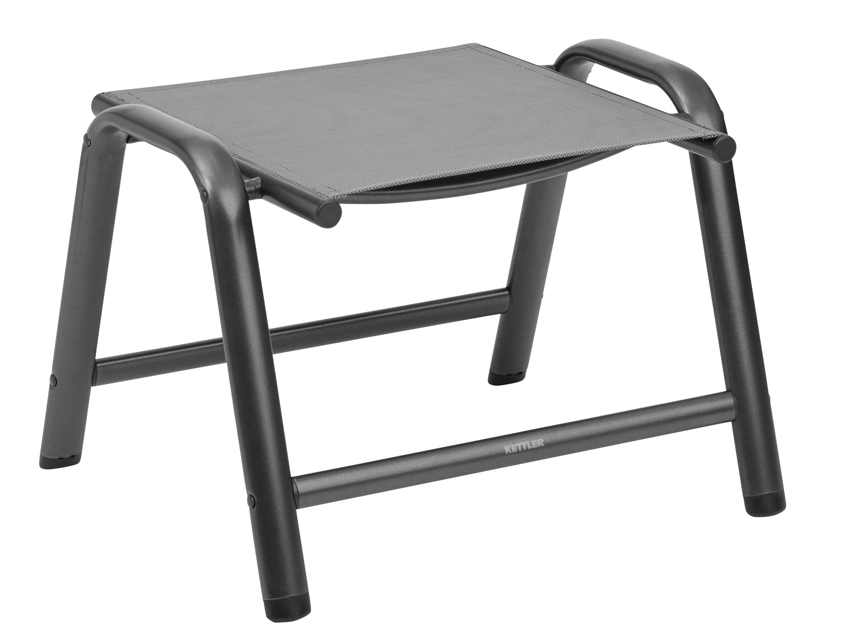 kettler cirrus hocker anthrazit anthrazit grau gartenm bel l nse. Black Bedroom Furniture Sets. Home Design Ideas