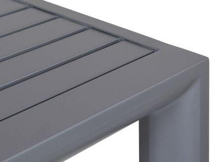 Vorschau: Lünse Alu Beistelltisch Oriental graphit 45x45cm