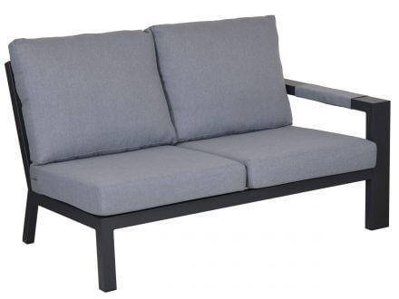 Lünse Alu Lounge Black Pearl 2-Sitzer Endmodul rechts