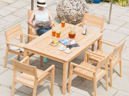 Vorschau: Alexander Rose Roble Holz Gartentisch Tivoli 150x100cm