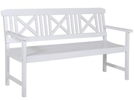 Lünse Holzgartenbank weiß Husum 150cm 3-Sitzer