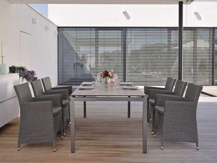 Vorschau: STERN Tischsystem Gartentisch Aluminium anthrazit Silverstar 2.0
