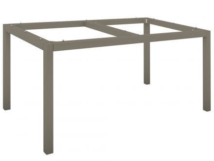 Vorschau: Stern Tischgestell Aluminium Vierkantrohr 160x90cm taupe