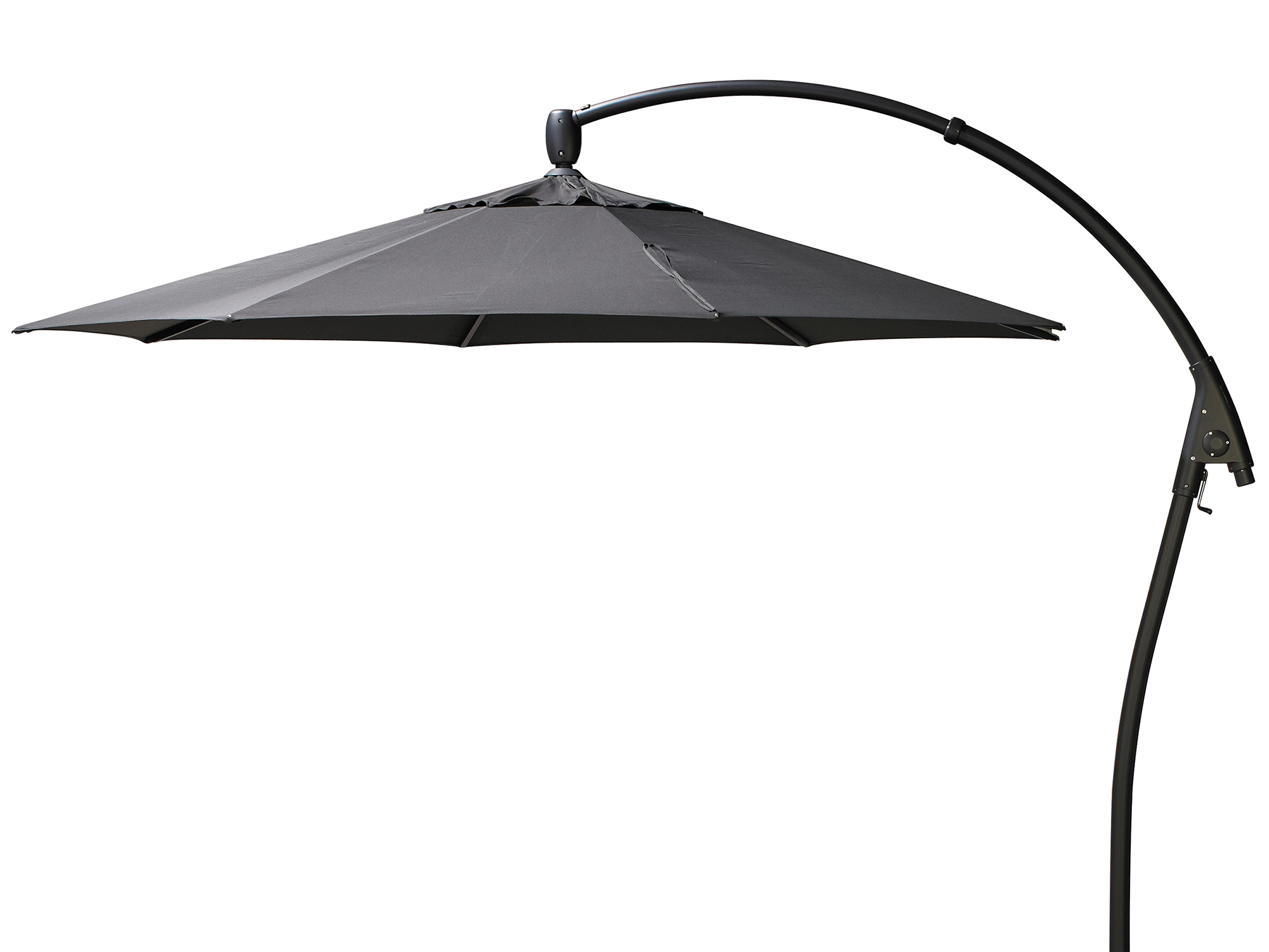 bellgio ampelschirm manhattan 350cm iron grey