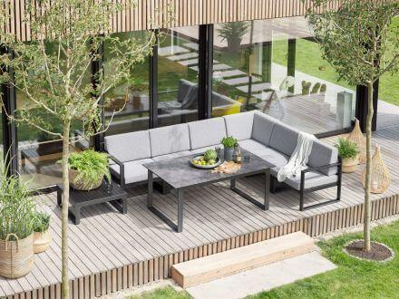 Vorschau: Beispiel Aufstellvariante als Eck-Lounge mit Dining-Tisch