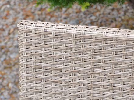 Vorschau: gardissimo Alu-Geflecht Gartenbank Marbella 2-Sitzer 116cm taupe