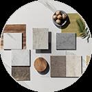 Soft ist mit unterschiedlichen Tischplatten-Materialien erhältlich
