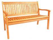 Lünse Holz Gartenbank Kansas 130cm 2-Sitzer