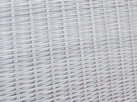 Vorschau: Detailbild Polyrattan Geflecht white-wash