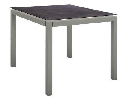 Stern Gartentisch 90x90cm Aluminium graphit/Silverstar 2.0 Vintage braun