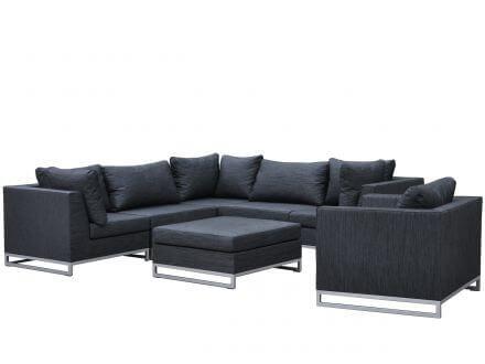 Vorschau: Lünse 7-teilige Outdoor Textil Loungegruppe Legian anthrazit