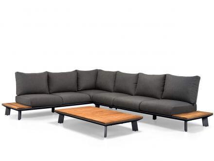 Vorschau: Suns 3-teiliges Alu Teak Lounge Set Denver Matt royal grey