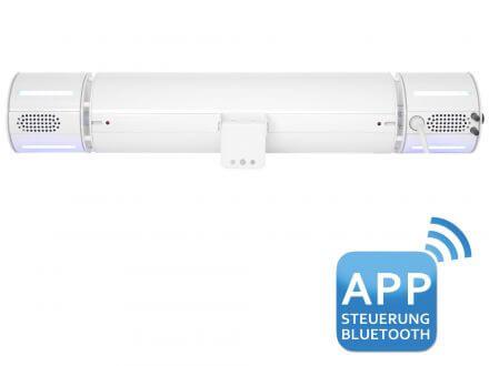 Vorschau: Bedienbar über kostenlose App via Bluetooth (iOS & Android)