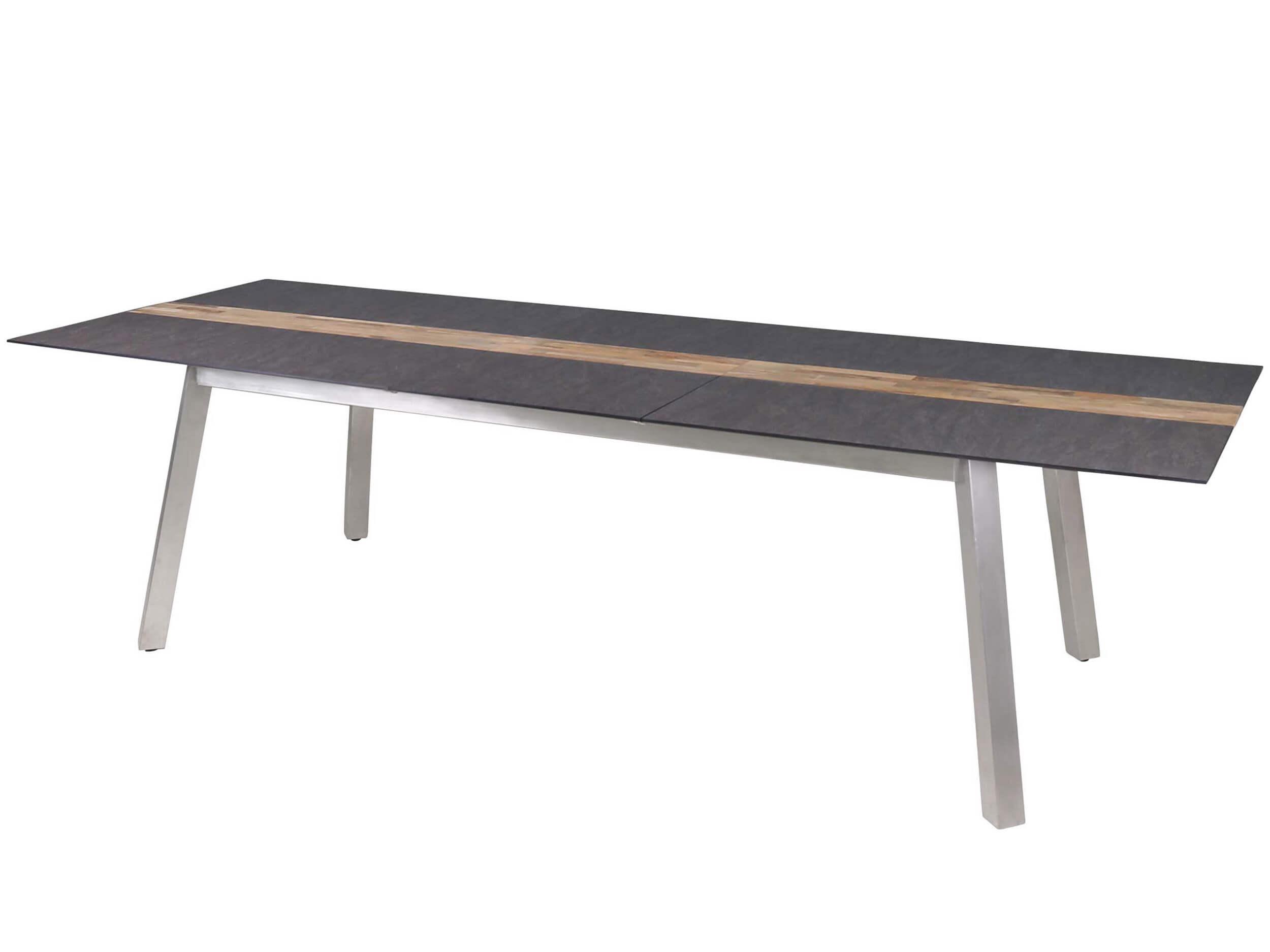 zebra-ausziehtisch-linax-hpl-edelstahl-teak-ausgezogen Beste Gartenbank Holz Weiß Gebraucht Konzept