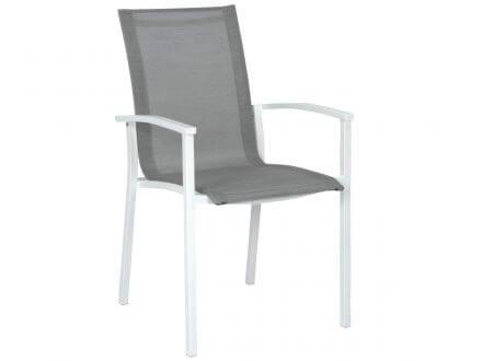 STERN Stapelsessel EVOEE Aluminium weiß|silber