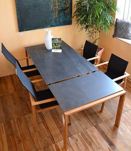 Solpuri Gartenmöbel in unserer Innenausstellung