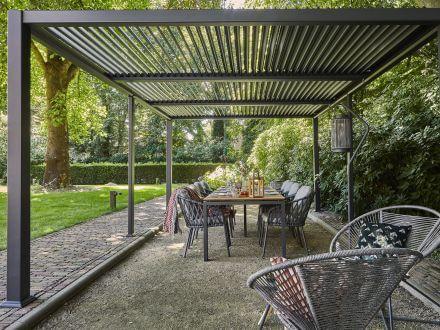 Vorschau: Suns Terrassendach Pavillon Maranza Matt Royal grey 540x350cm