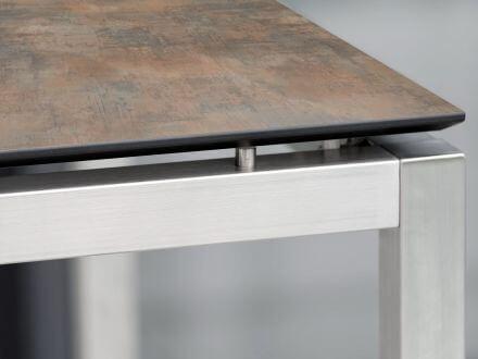 Vorschau: Stern Tisch Edelstahl Vierkantrohr mit Silverstar 2.0 Ferro