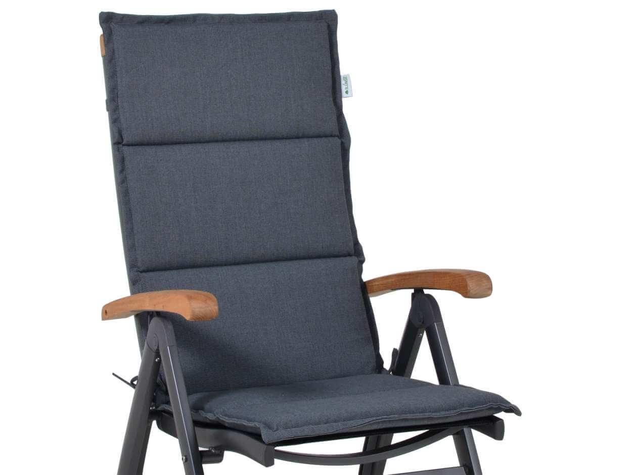 Polsterauflage Malibu für Alu-Hochlehner, Farbe: grey | Gartenmöbel ...