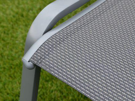 Vorschau: Detailaufnahme Textilene-Bespannung im Farbmix anthrazit/beige