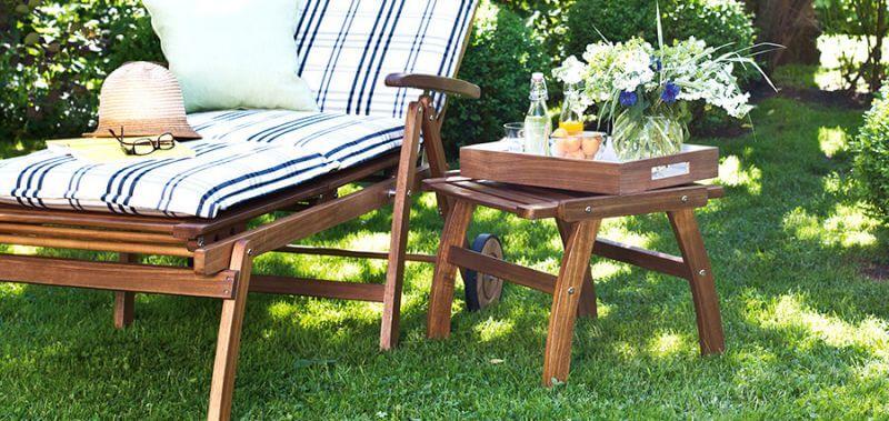 Gartenhocker Holz
