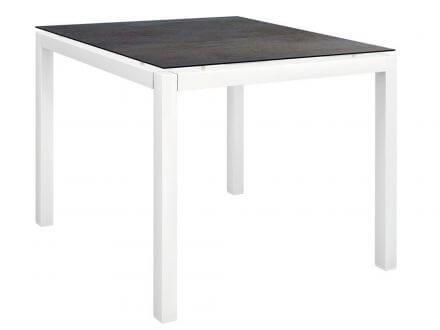 Stern Gartentisch 90x90cm Aluminium weiß/Silverstar 2.0 Nitro