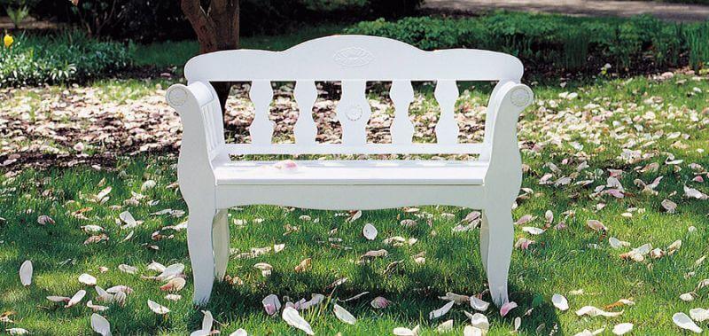 Gartenbank weiß
