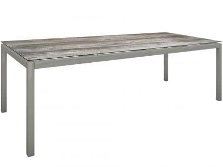 Stern Gartentisch 250x100cm Aluminium graphit/Silverstar 2.0 Tundra grau