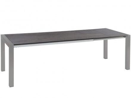 STERN Doppel-Ausziehtisch Standard Alu graphit 214-294x100cm