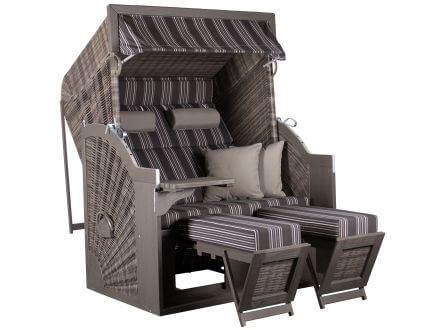 deVries Strandkorb PURE Comfort XL grau
