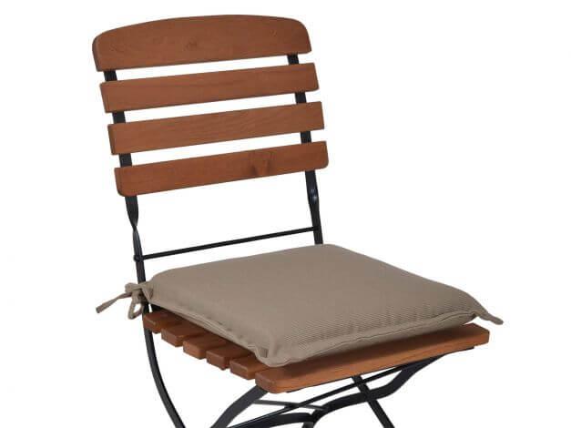 Vorschau: Sitzkissen Malibu 42x42cm sand Beispiel für Klappstuhl