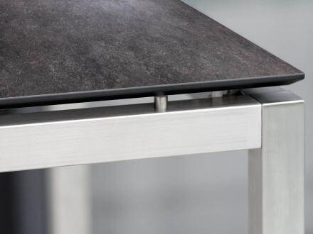 Vorschau: 1x Gartentisch 80x80cm Edelstahl Silverstar 2.0 Vintage grau