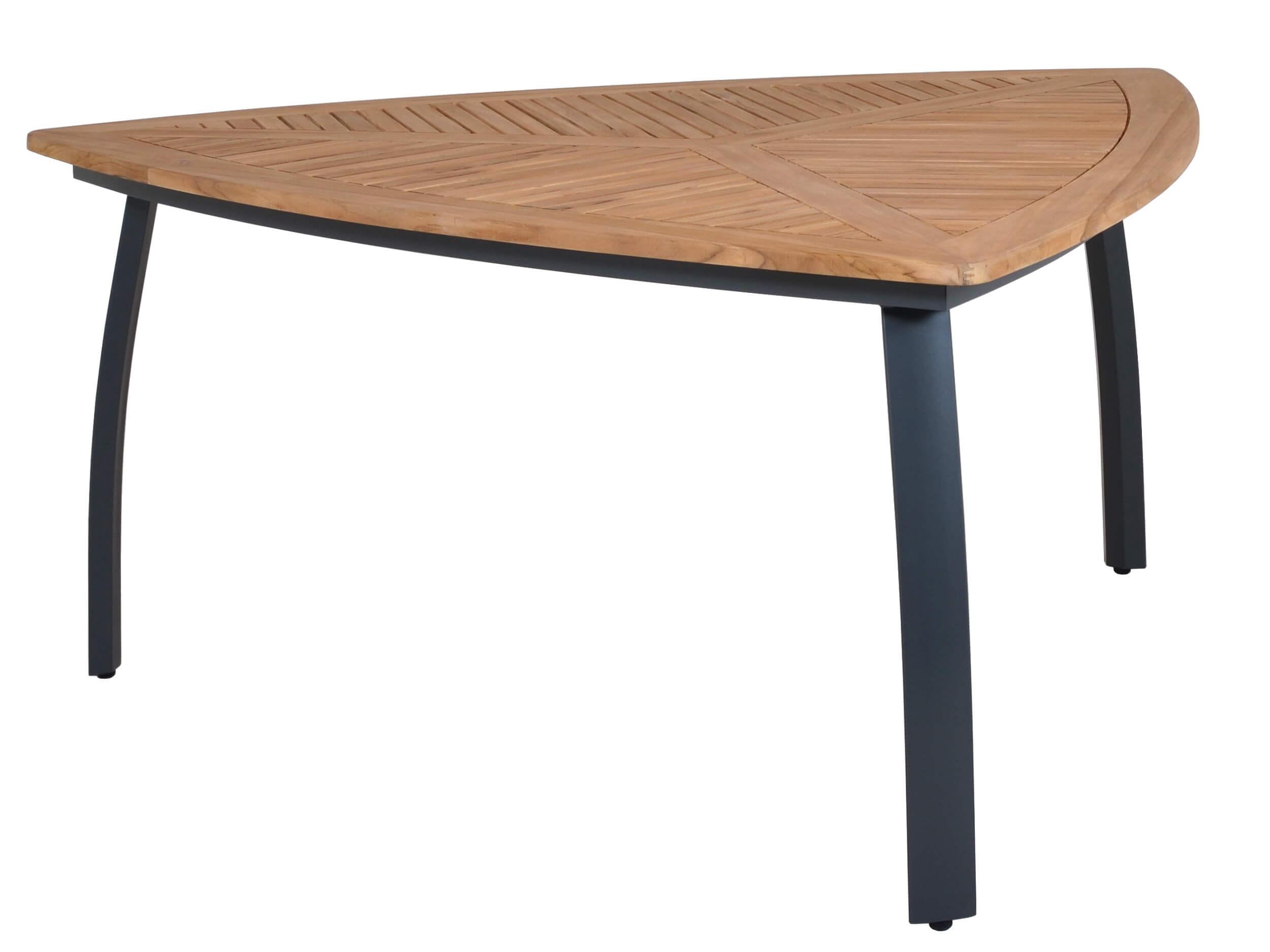 Gartentisch Dreieckig.Lünse Dreiecktisch Dortmund Alu Teak 160x160x160cm