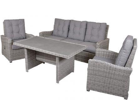 Lünse 4-teilige Dining-Loungegruppe Finley