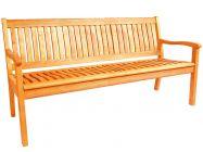 Lünse Holz Gartenbank Kansas 160cm 3-Sitzer